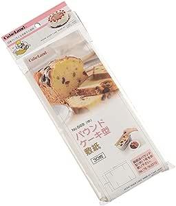 CAKELAND 长方蛋糕模具垫纸30枚入,用于600g磅蛋糕模具或吐司模具(日制1.0斤)569