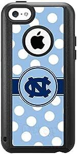 北卡罗来纳州设计黑色 otterbox 通勤系列 ® 保护套适用于 iphone 5°C North Carolina Polka Dots
