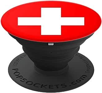 瑞士国旗可爱国旗爱国波士球员手机和平板电脑握架260027  黑色