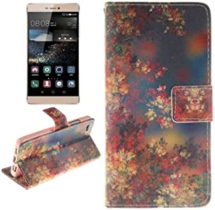 alsatek Case Cover PU Leather for Huawei P8 Lite Floral 对开式