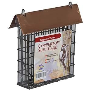 Coppertop Suet Cage Bird Feeder Single Suet