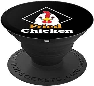 Fried Chicken Wings Crispy Fry PopSockets 手机和平板电脑握架260027  黑色