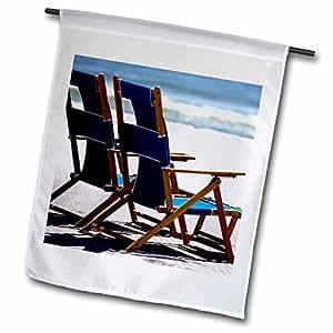 danita delimont–海滩–沙滩椅子,雨伞,发货,密西西比–us25fvi0023–Franklin VIOLA–旗帜 12 x 18 inch Garden Flag