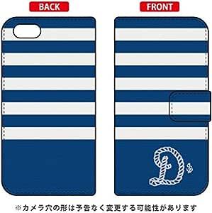 手册式智能手机壳 *条纹×白色 首字母 D design by ARTWORK/for iPhone SE/5s/au