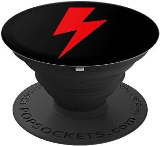 Red Lightning 螺栓 - PopSockets 手机和平板电脑握把支架260027  Red Lightning Bolt 黑色
