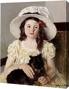 "PrintArt Francoise Holding a Little Black Dog 13"" x 16"" GW-POD-64-267829-13x16"