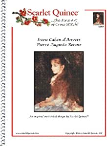Scarlet Quince REN016 Irene Cahen d'Anvers by Pierre Auguste Renoir Counted Cross Stitch Chart, Regular Size Symbols