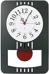 雅马特工艺 怀旧现代时钟 深绿色 幅21×奥行き4×高さ33(cm) -