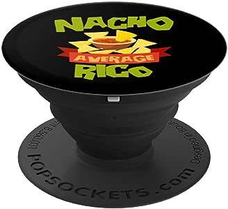 NACHO AVERAGE RICO 趣味生日个性化名字礼物 PopSockets 手机和平板电脑握架260027  黑色