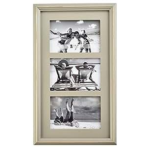 "UMICAL(TM 9×7 灰色木相框 - 用于显示 10.16×15.24 厘米的照片或图片 暖灰色 3 * 6""X4"""