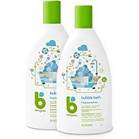 Babyganics 泡泡浴,无香料,20盎司(约566.99克),591毫升,2瓶,包装可能有所不同