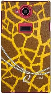 Coverfull 长颈鹿图案 首字母-Q design by ARTWORK/for AQUOS ZETA SH-03G/docomo DSH03G-ABWH-151-MAM4
