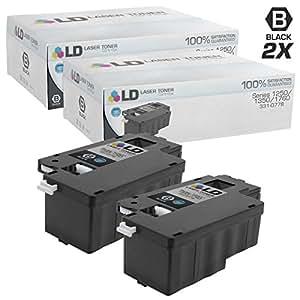 LD 兼容戴尔1250/ 1350高产量碳粉盒墨盒:331–0778碳粉2000黑色 / 331–0777碳粉1400°C / 331–0780M / 331–0779Y
