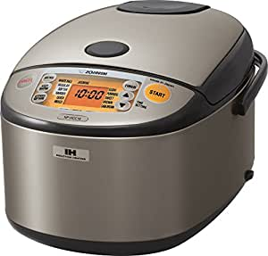 Zojirushi NP-HCC18XH Induction Heating System Rice Cooker and Warmer, 1.8 L, Stainless Dark Gray 需配变压器