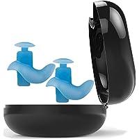 DAYLIFE 游泳耳塞 冲浪耳塞 专业防水可重复使用硅胶 也适用于淋浴 沐浴 游泳初学者和其他水上运动 (蓝色)