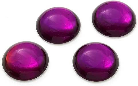 35 毫米亚克力圆形宝石平背亚克力水钻 4 件装,SP-2737 紫色 35mm SP-2737