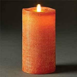 Napa Home & Garden Lightli 移动火焰柱,室内,亚麻 香料色 3.5X7 10185