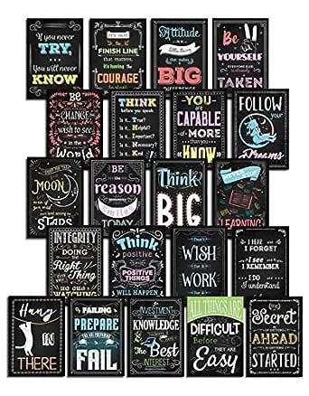 Everyday Educate Inspirational Classroom Wall Decor 海报 - 励志艺术和教育语录,适合儿童和青少年 - 学校、家庭、办公室或游戏室 - 一套 21 件教师用品