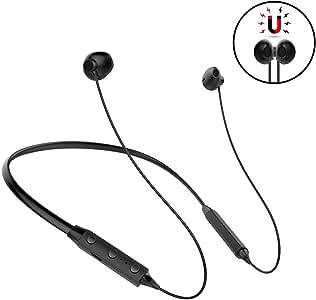 CONWOE 无线蓝牙耳机 V4.2 *佳入耳式降噪耳塞无线运动和音乐立体声低音耳机,适用于 iPhone、Samsung、LG、Apple Watch (黑色) 黑色