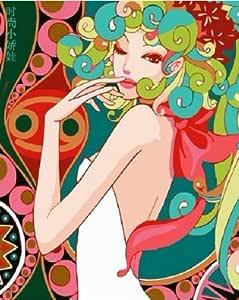 Colour Talk DIY 油画,按数字套件绘画 - Fashion Lady 40.64*50.8 厘米。 Frameless