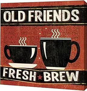"PrintArt GW-POD-38-10996-24x24 ""Coffee Roasters IV""Pela Studio Gallery Wrapped Giclee 油画艺术印刷品 24"" x 24"" GW-POD-38-10996-24x24"