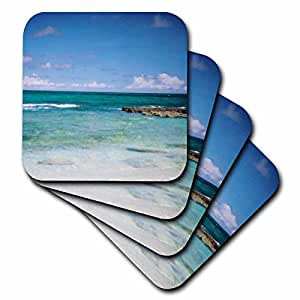 3dRose cst_22276_2 Lovely Clear Ocean-Soft Coasters, Set of 8