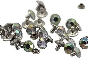 亚克力水钻铆钉服装皮革、缝纫和工艺 DIY 珠宝批量制作手镯手袋人字拖 Crystal Ab H702 5mm