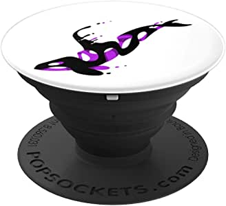 Fantasy Killer 鲸鱼,艺术设计 PopSockets 握把和支架适用于手机和平板电脑260027  黑色