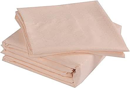 HONEYMOON HOME 时尚超细纤维床单套件,柔软防*床单和枕套套装钢丝纱 米色 全部 HM004CROSS08501F-BEIGE