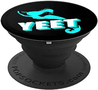 Yeet 趣味美人鱼礼物女孩美人鱼情侣礼物 PopSockets 手机和平板电脑握架260027  黑色