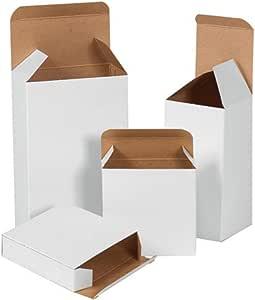 bauxko 白色反向 tuck 折叠 cartons