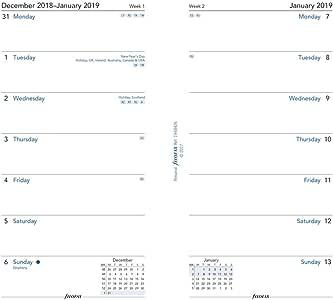 Filofax 2020 个人/紧凑周每页替换装,2020年 1 月 - 2020年 12 月,6.75 x 3.75 英寸(C68426-20) 2019