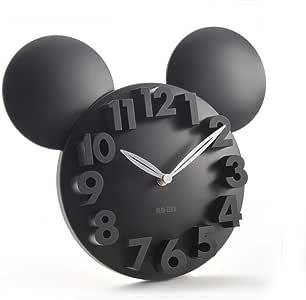 3D 大数字现代家庭办公室装饰圆形石英挂钟 艺术装饰 34 * 28CM