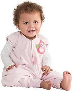HALO 赫拉 安全睡袋 学步幼儿 摇粒绒 可伸脚 粉色猫头鹰 M(6-12个月) 秋冬厚款
