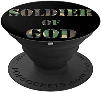 Soldier of God - Soldado de Dios PopSockets 手机和平板电脑握架260027  黑色