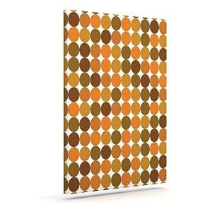 "Kess InHouse KESS 原创""Noblefur Orange Harvest""户外帆布墙壁艺术 10"" x 12"" 橙色 KIH038CAC02"