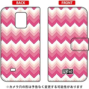 YESNO 翻盖式手机保护壳 ブロックウェーブ 粉色 / For Galaxy Note Edge sc-01g//docomo dsc01g - N307Samsung