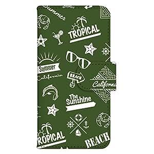 智能手机壳 手册式 对应全部机型 印刷手册 cw-186top 套 手册 海滩男孩 UV印刷 壳WN-PR175727-L Galaxy S7 edge SM-G935F 图案E