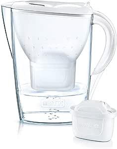 BRITA 碧然德 Marella 净水壶 白色,包括12个MAXTRA+滤芯-BRITA过滤器一年用,用于减少石灰,氯和水中气味