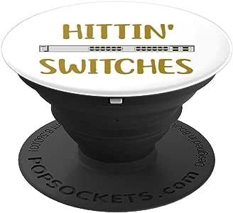 Hittin Switchs网络系统工程师 IT Tech 男士礼物 PopSockets 手机和平板电脑握架260027  黑色