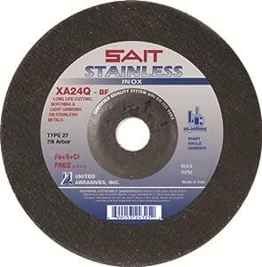 United Abrasives- SAIT 24325 27 7 x 1/8 x 7/8 英寸不锈钢切割轮,25 件装