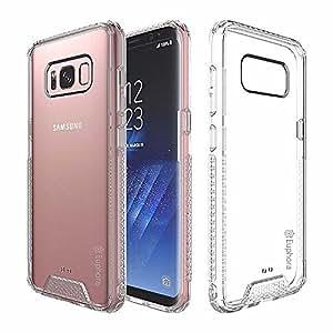 Galaxy S8 手机壳,Euphora 防震亚克力 + TPU 防刮超薄吸水性透明保护壳适用于三星 Galaxy S8 (2017) Arctic Clear