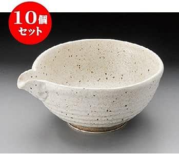 10个一套 小碗(组) 志野垫3.6单口碗[130 x 115 x 60mm] 日式餐具 日式*馆 旅馆 餐饮店 业务用