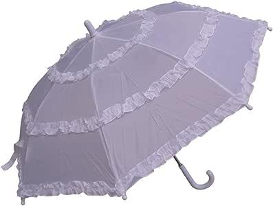 RainStoppers 女童纯色伞,带三个褶边