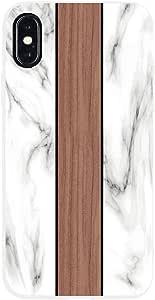 Pacific Edge iPhone X Phone case 多种颜色 White Carrara Marble x Black Walnut