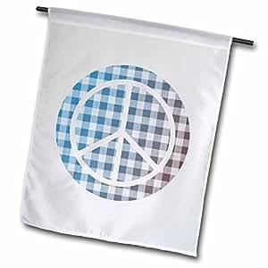 PS Creations–格子和平标志–鼓舞人心的艺术–旗帜 12 x 18 inch Garden Flag