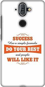 AMZER 超薄手工制作设计师印花卡扣式硬壳后盖带屏幕清洁套件皮肤适用于诺基亚 8 SiroccoAMZ601040060268  Success Do Your Best