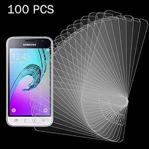 alsatek 100 件钢化玻璃屏幕保护膜 0.26 毫米 9H 2.5D 适用于 Galaxy j12016/Eisa