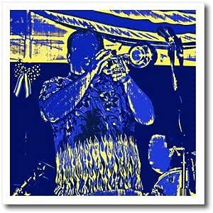 susans ZOO 船员乐器–蓝色和黄色 trumpet player–熨烫热转印