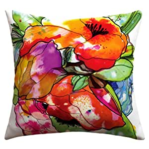 DENY Designs CayenaBlanca Big 2 Outdoor Throw Pillow 粉红色 18 by 18-Inch